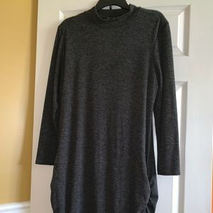 Fashion to Figure Mock Neck with Ruched Sides